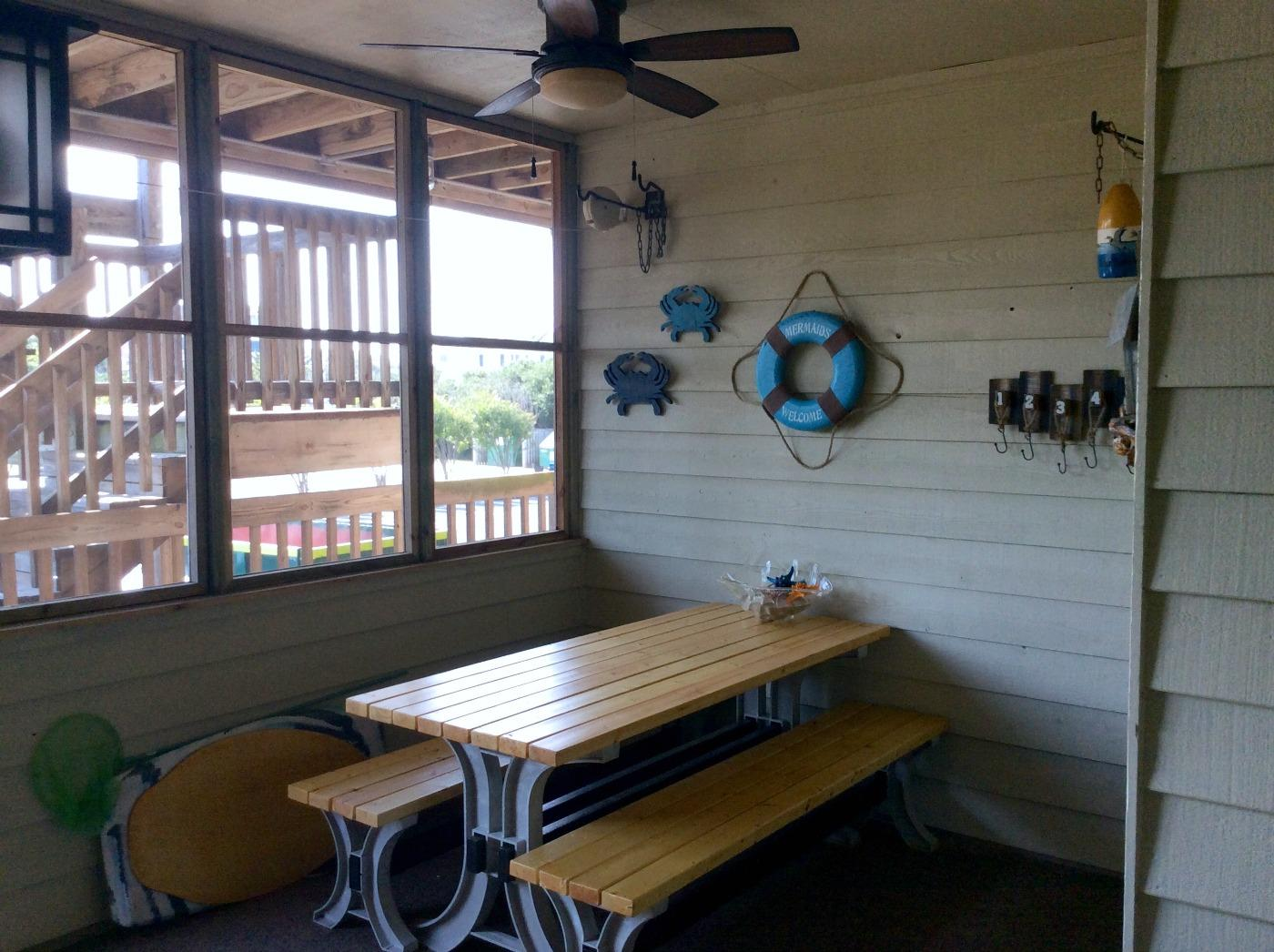 Screen Porch with Picnic Table