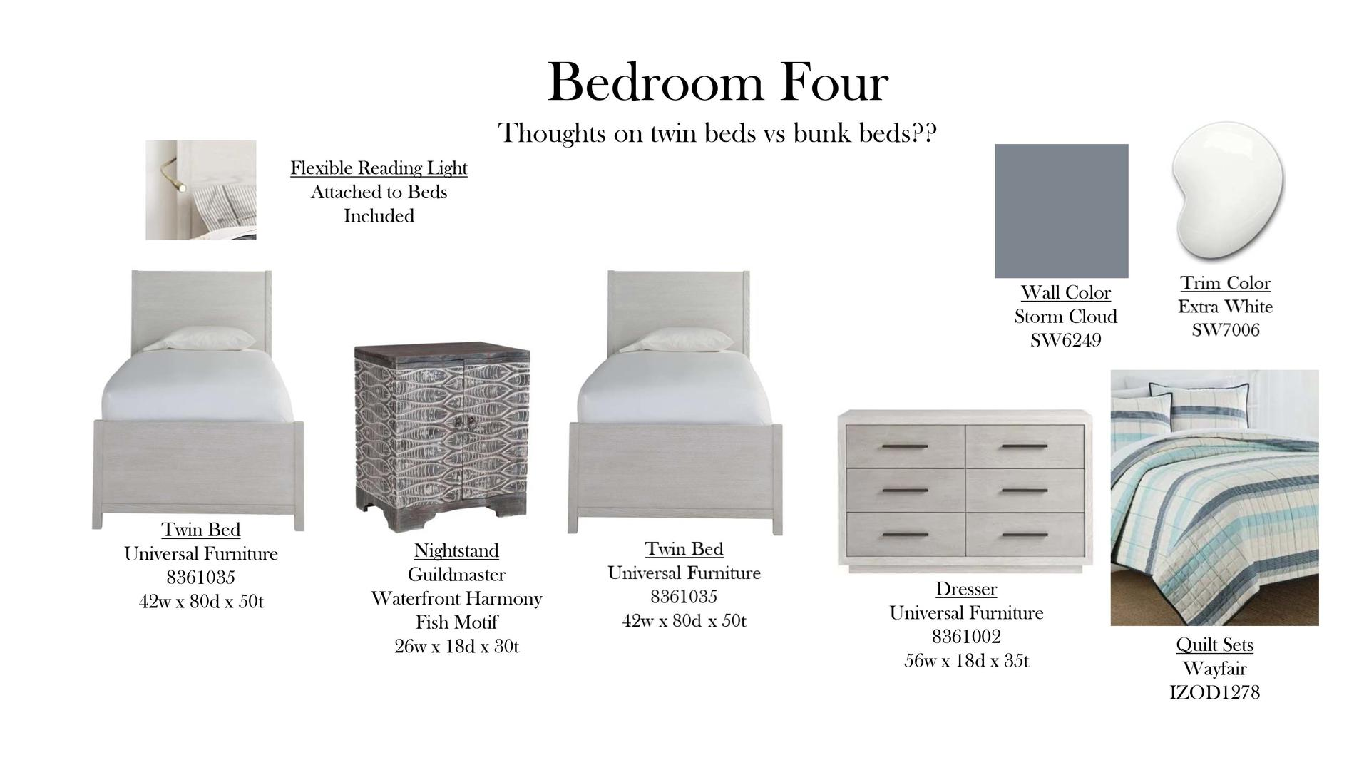Bedroom Four Specs