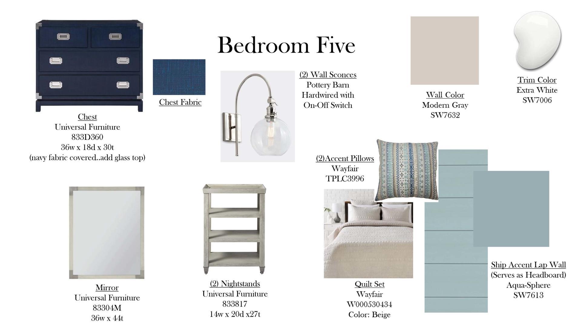 Bedroom Five Specs
