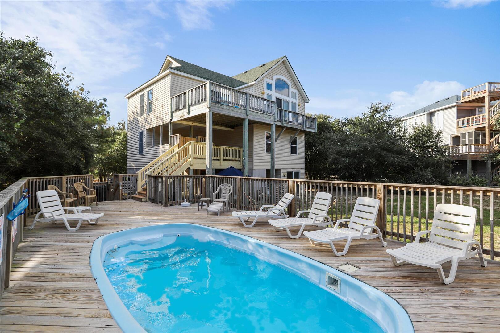 Exterior,Backyard Pool Area,