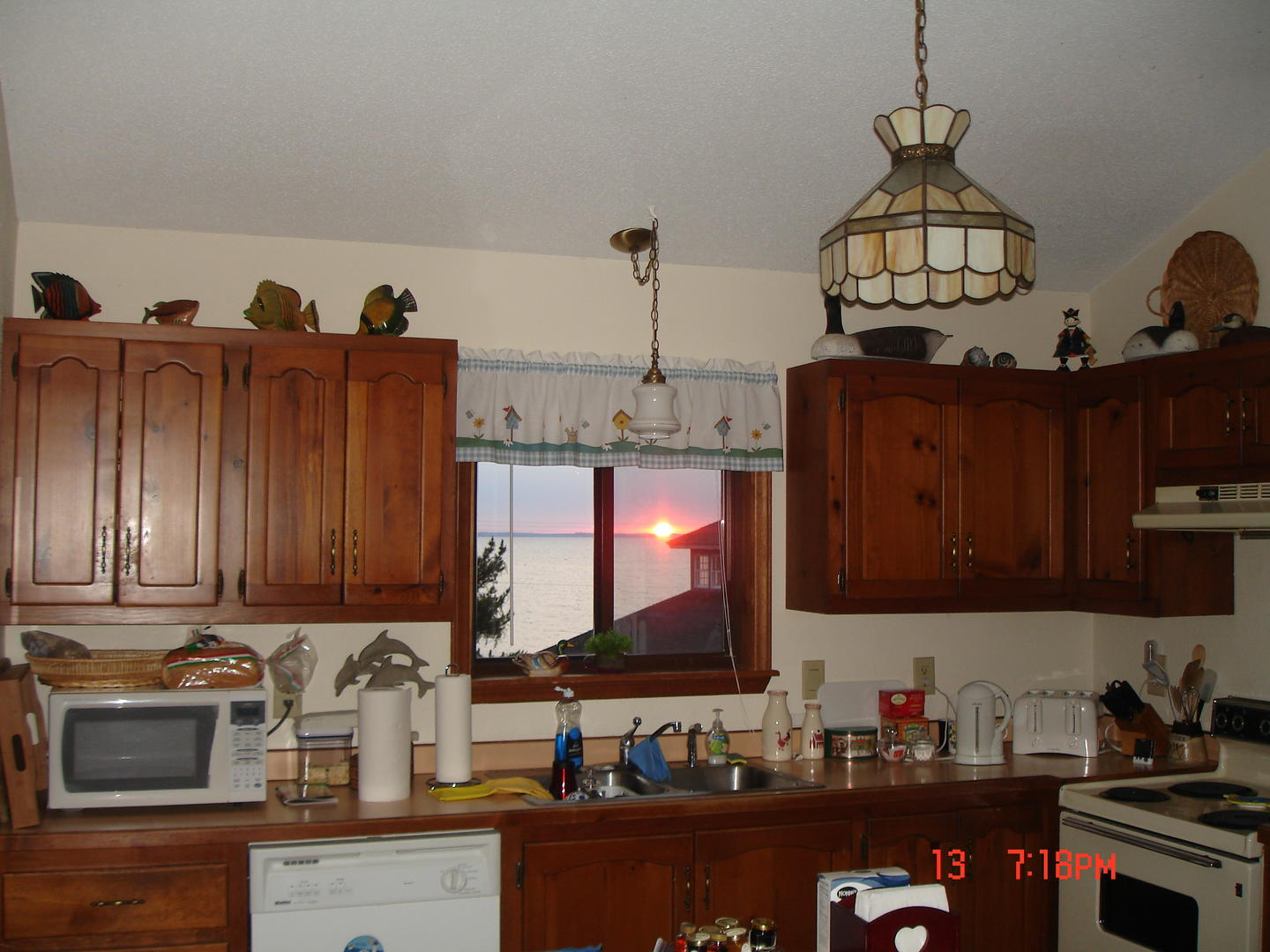 Enjoy sunsets from your kitchen window