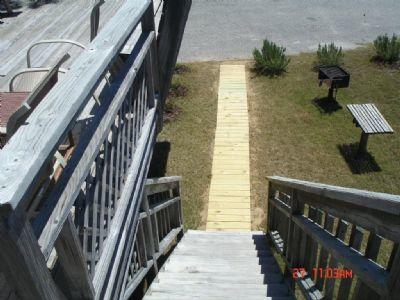 walkway to grilling area