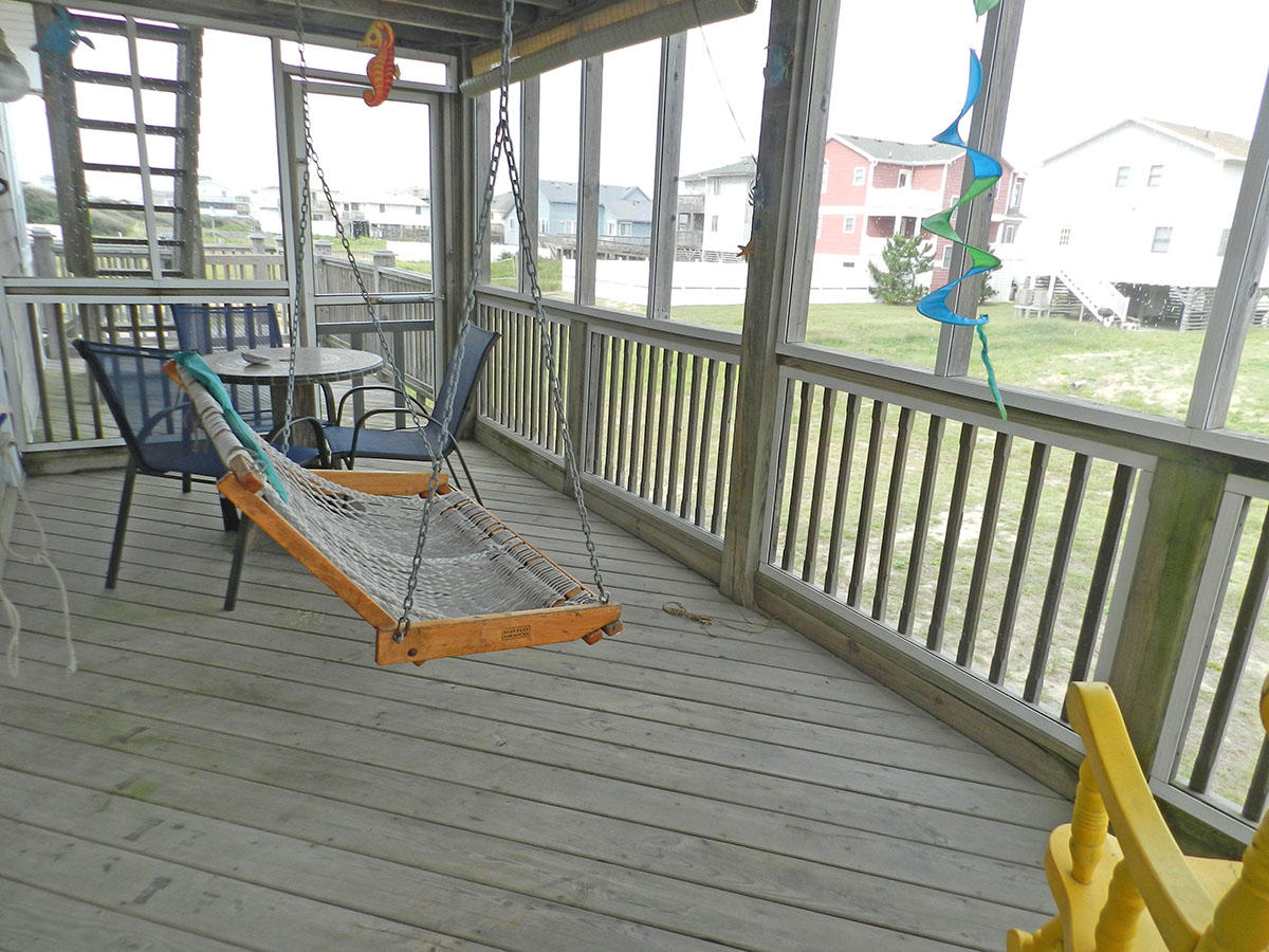 Swing in Screened Porch