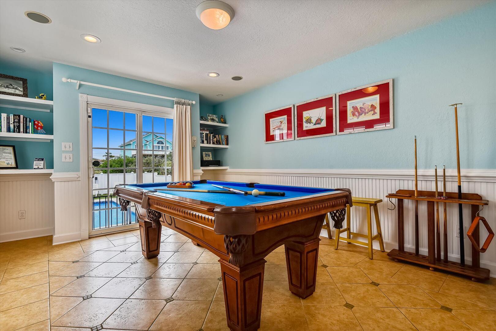 Pool Level,Recreation Room,