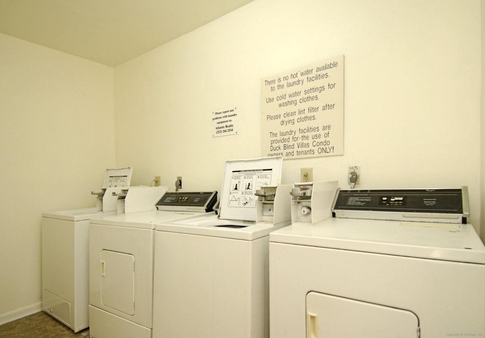 Amenity,Duck Blind Villas Laundry Room,