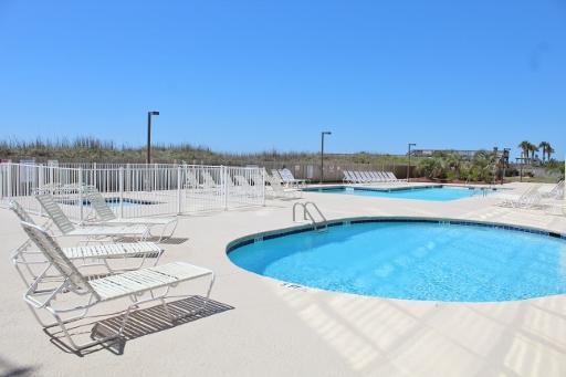 Ocean front community pool
