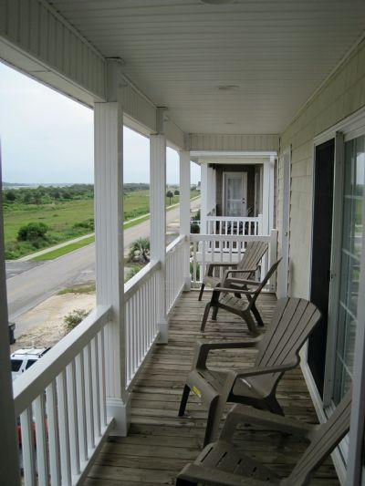 Street side porch