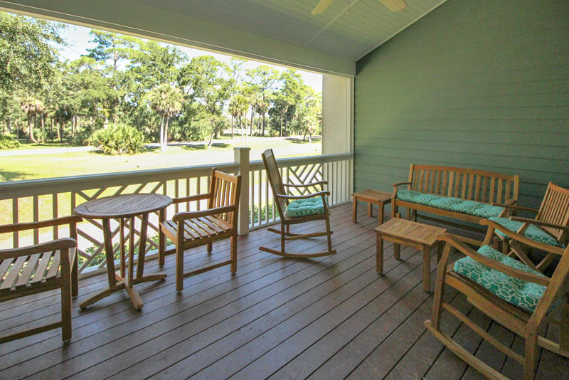 Screened in porch overlooking Ocean Creek Golf Course