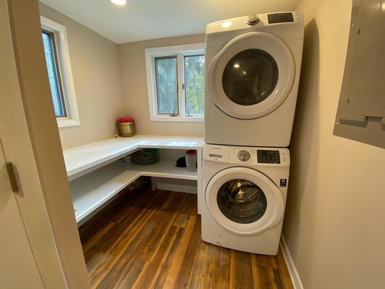 Laundry next to kitchen