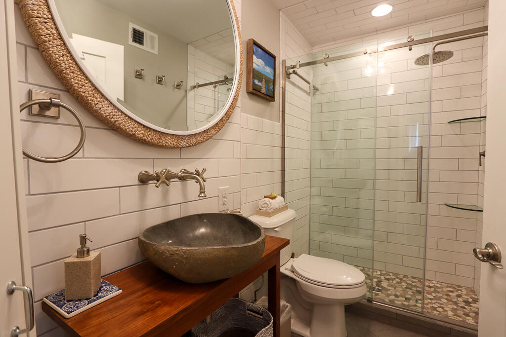 Newly renovated downstairs bath