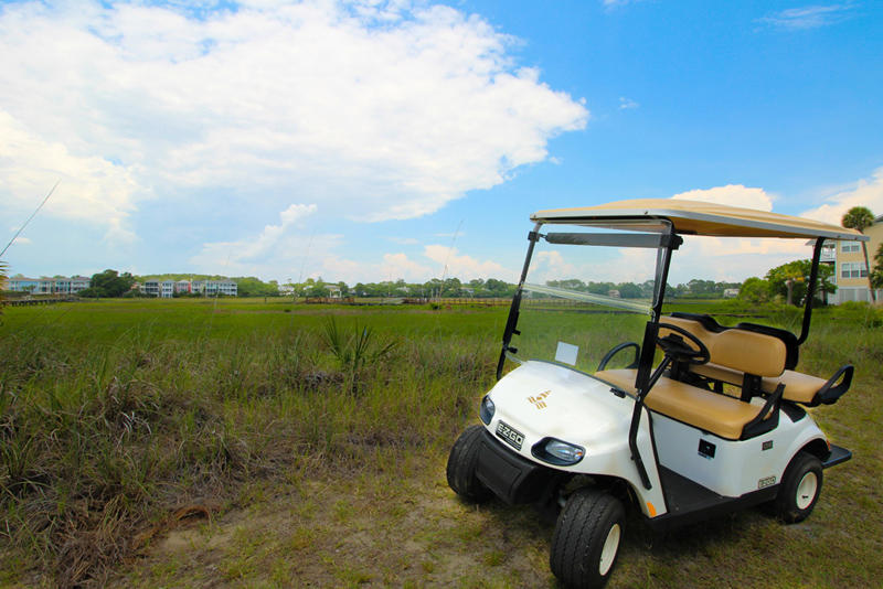 A golf cart is included with this home (excluding monthly rentals).
