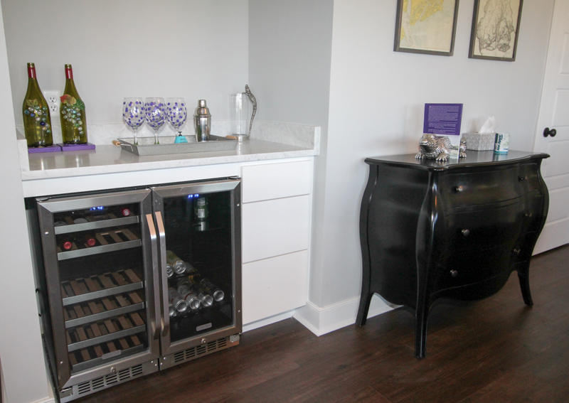 Wet Bar with Wine Fridge