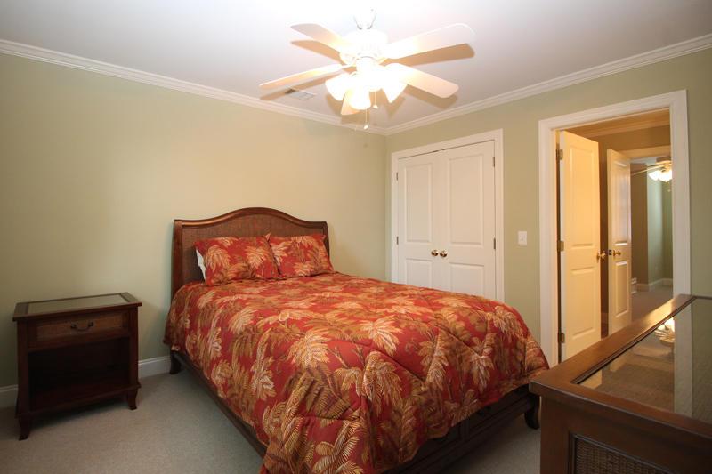 Second floor queen bedroom with Jack and Jill bath