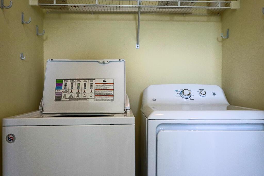 Laundry on second floor