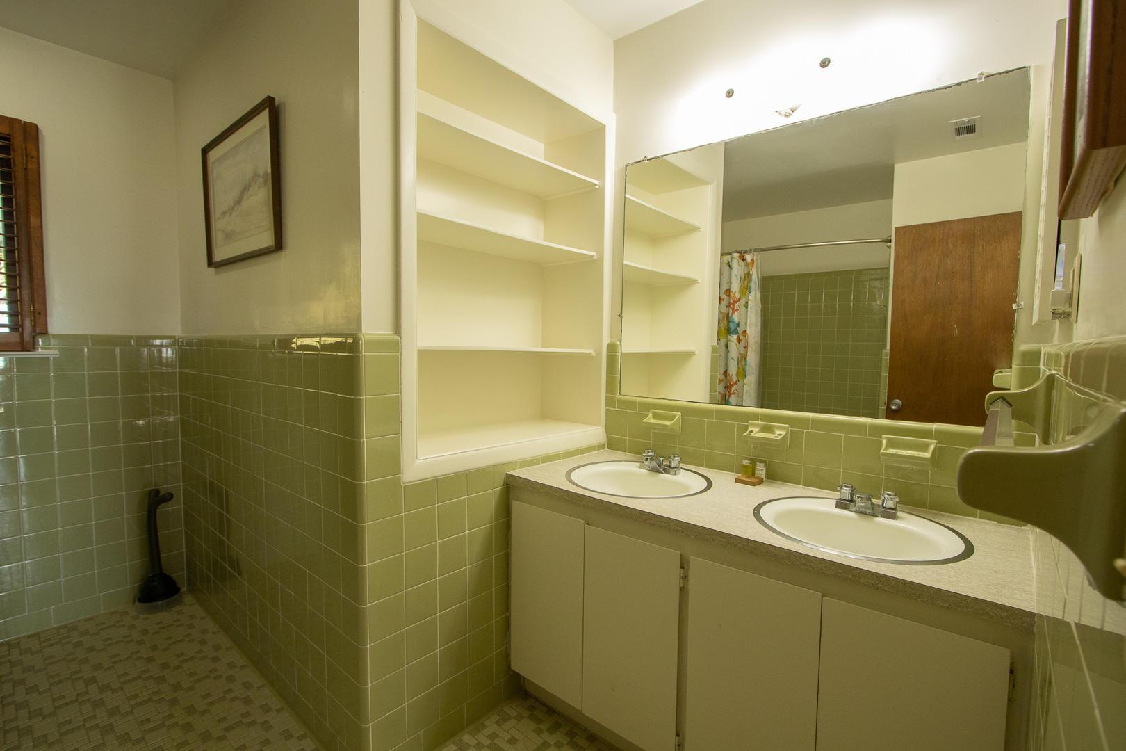 Hallway bathroom near bedrooms 1 and 2