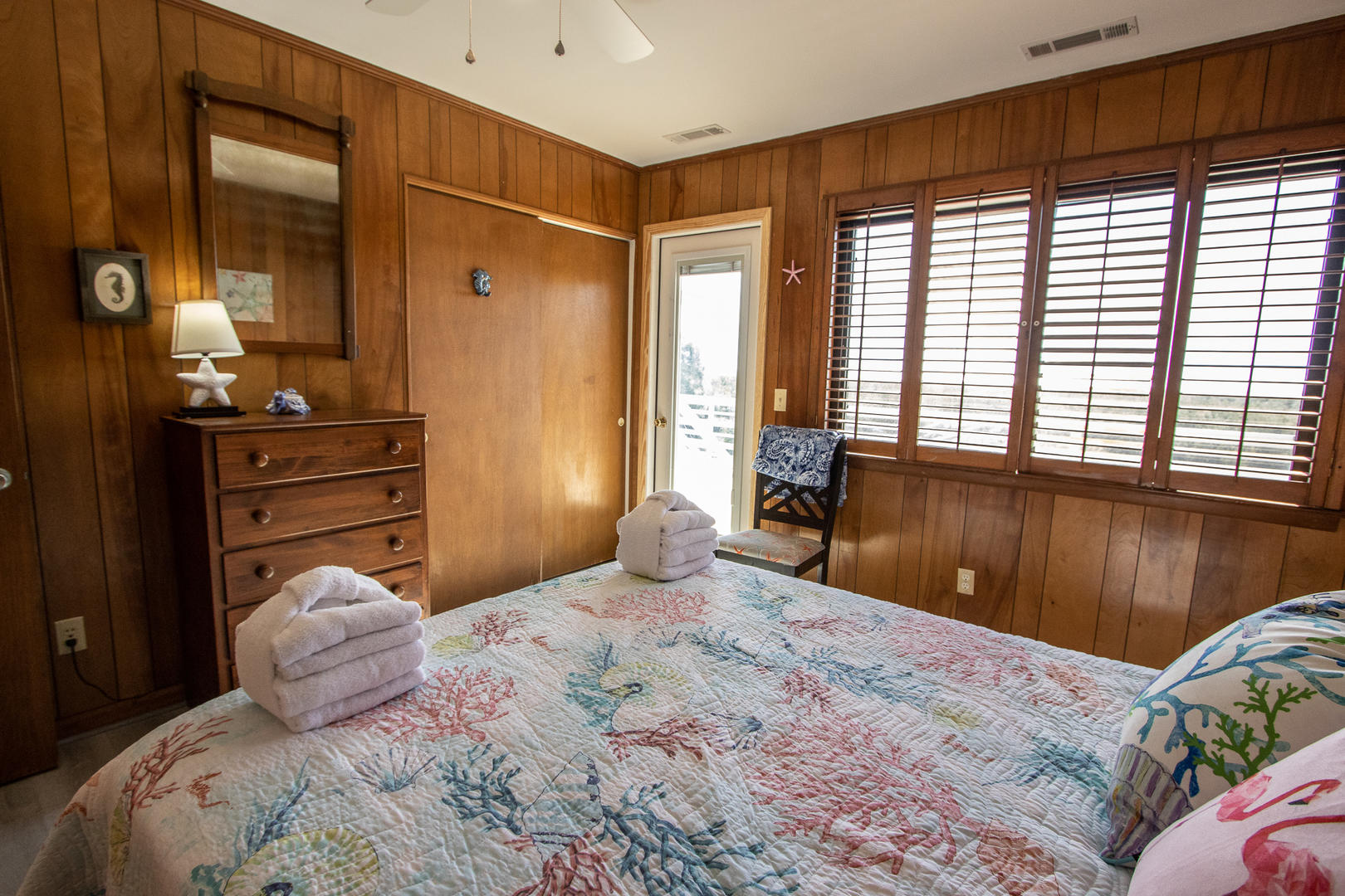 Bedroom 2, access to back deck