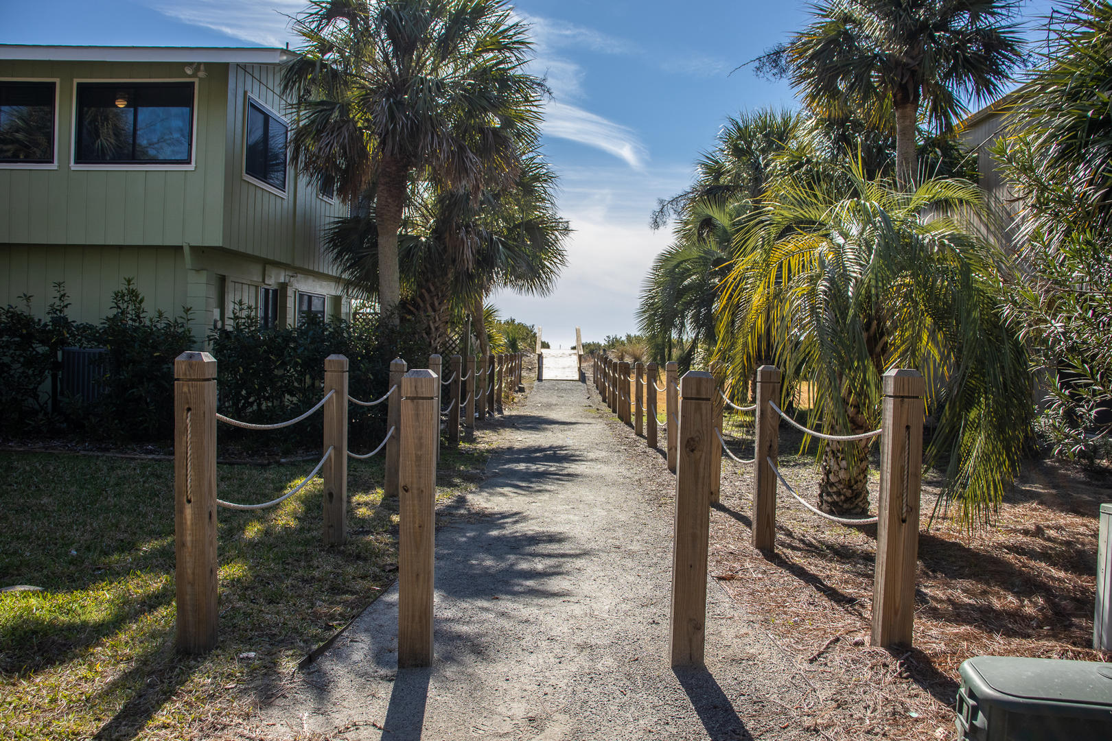 Beach access directly to right of rental