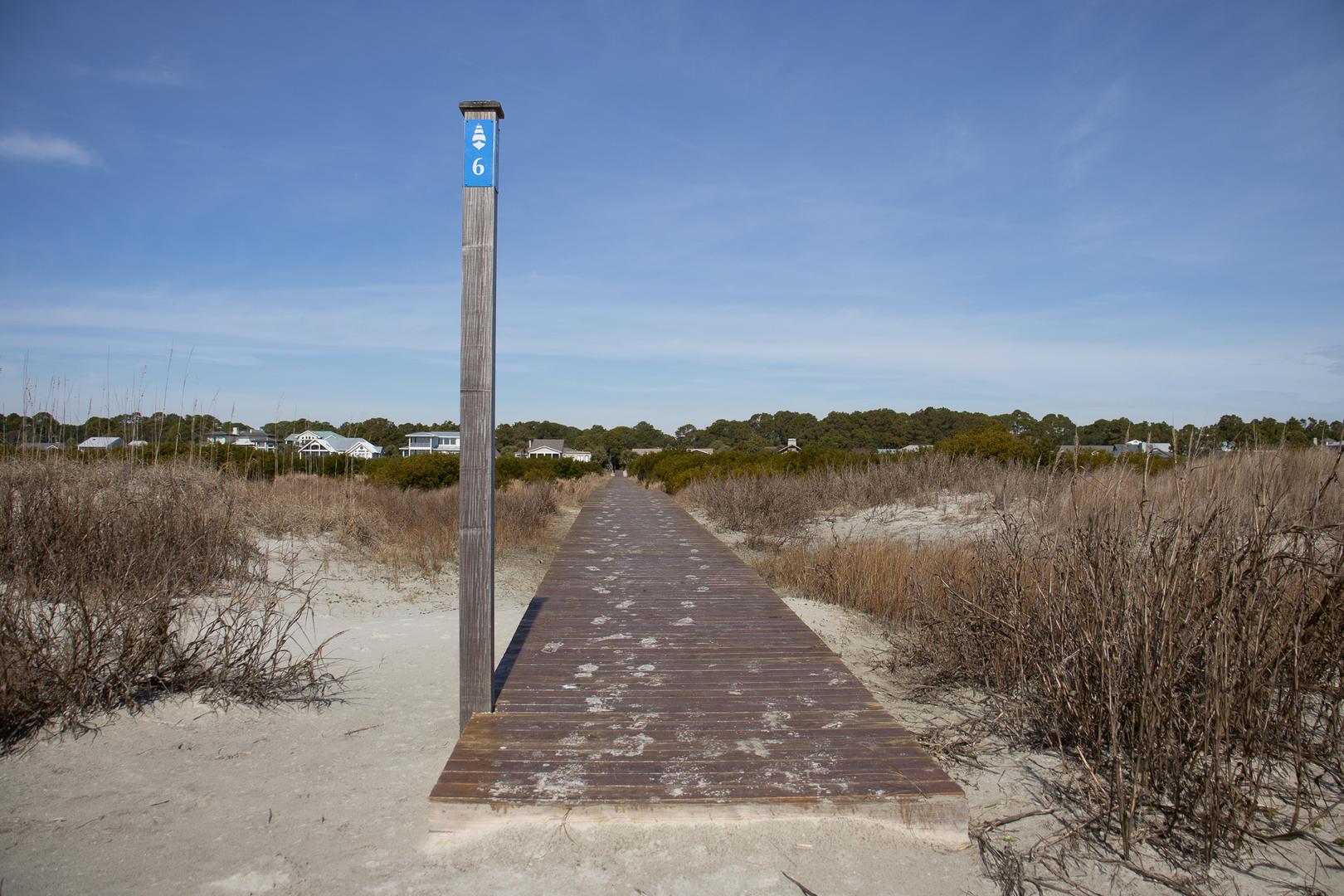 Beach access next to rental