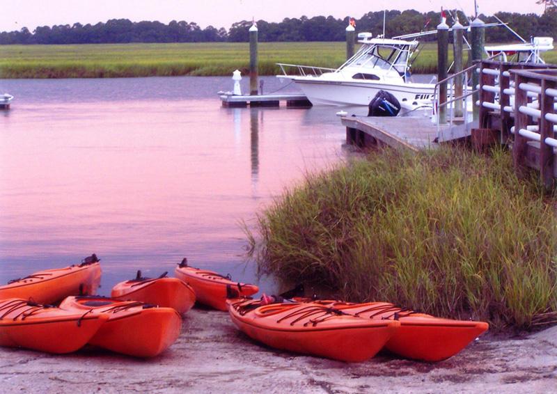 Kayaks can be rented at Island Rentals at the Fripp Island Marina.