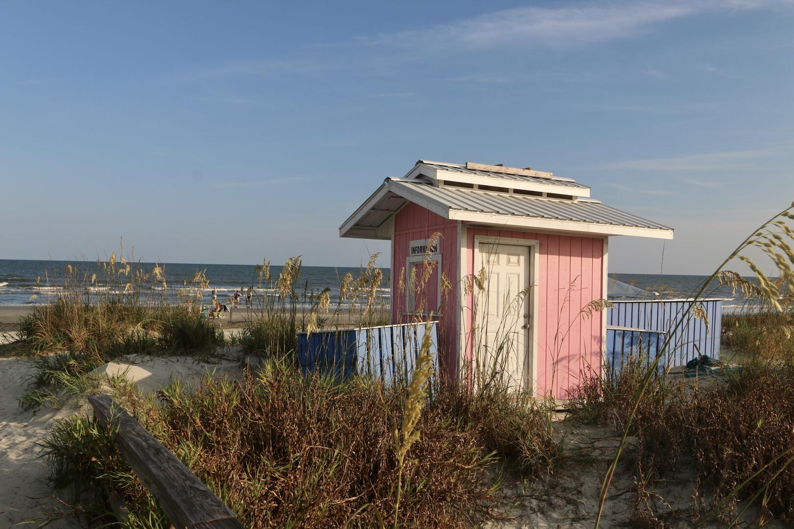 Beach Hut-Renting chairs and umbrellas