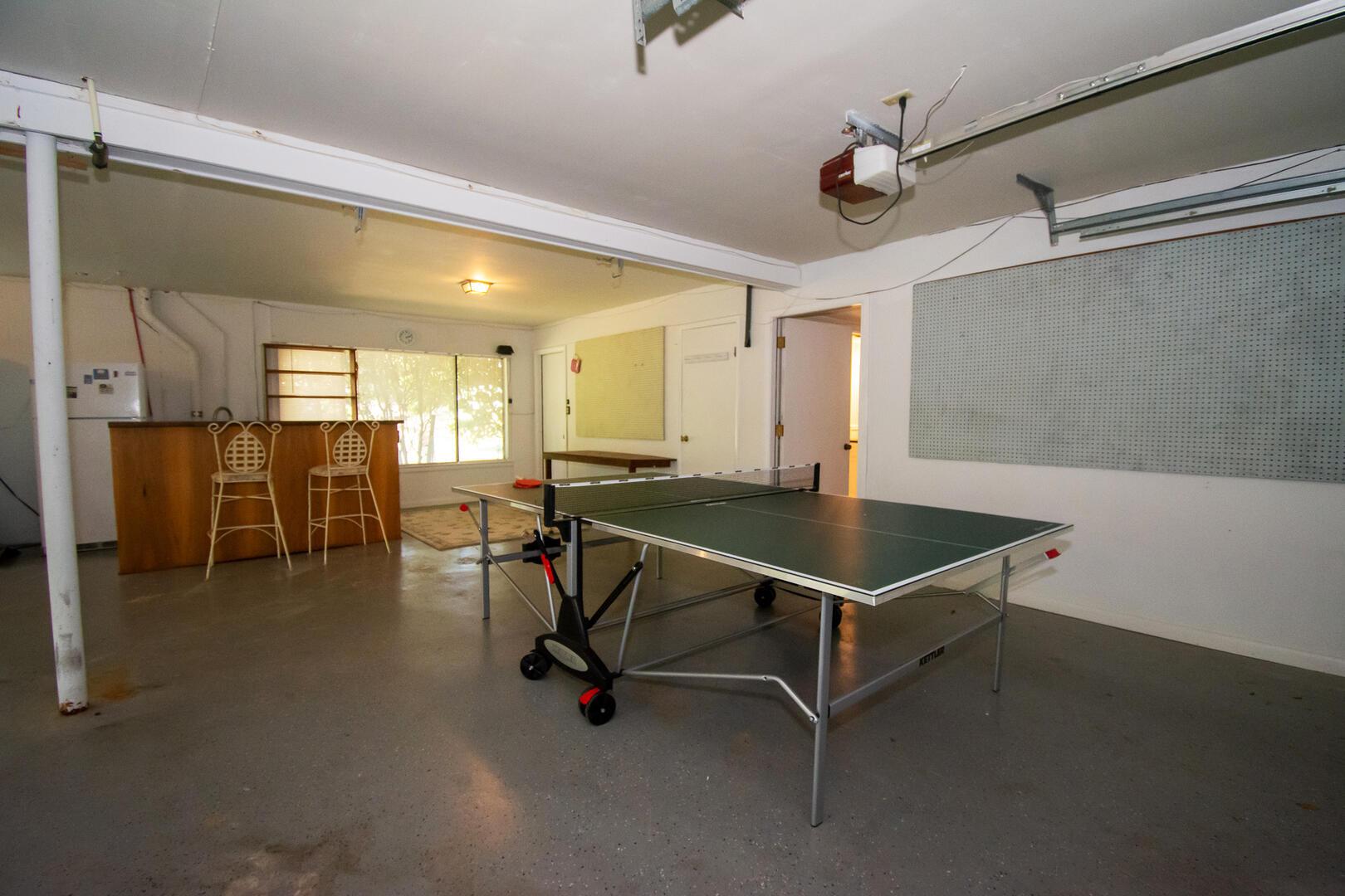 Garage Ping Pong Table