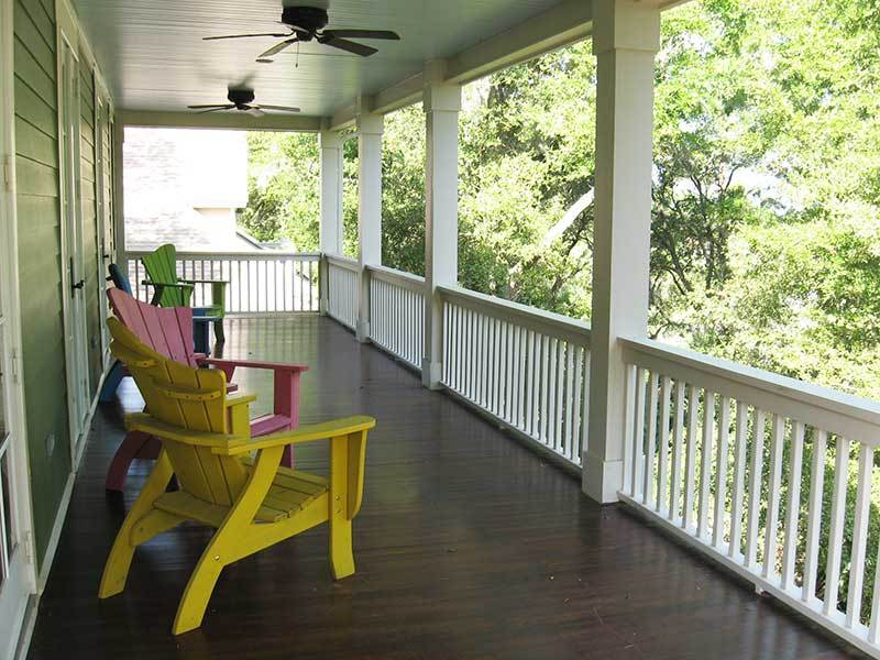 BACK DECK ON SECOND FLOOR