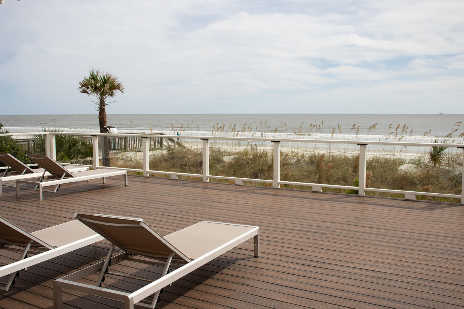 Back deck, beach access