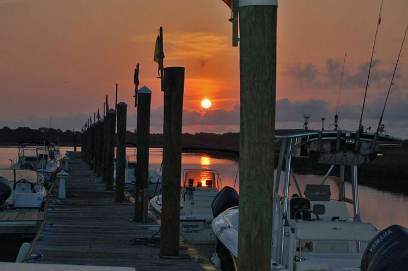 Beautiful sunset at the Marina.