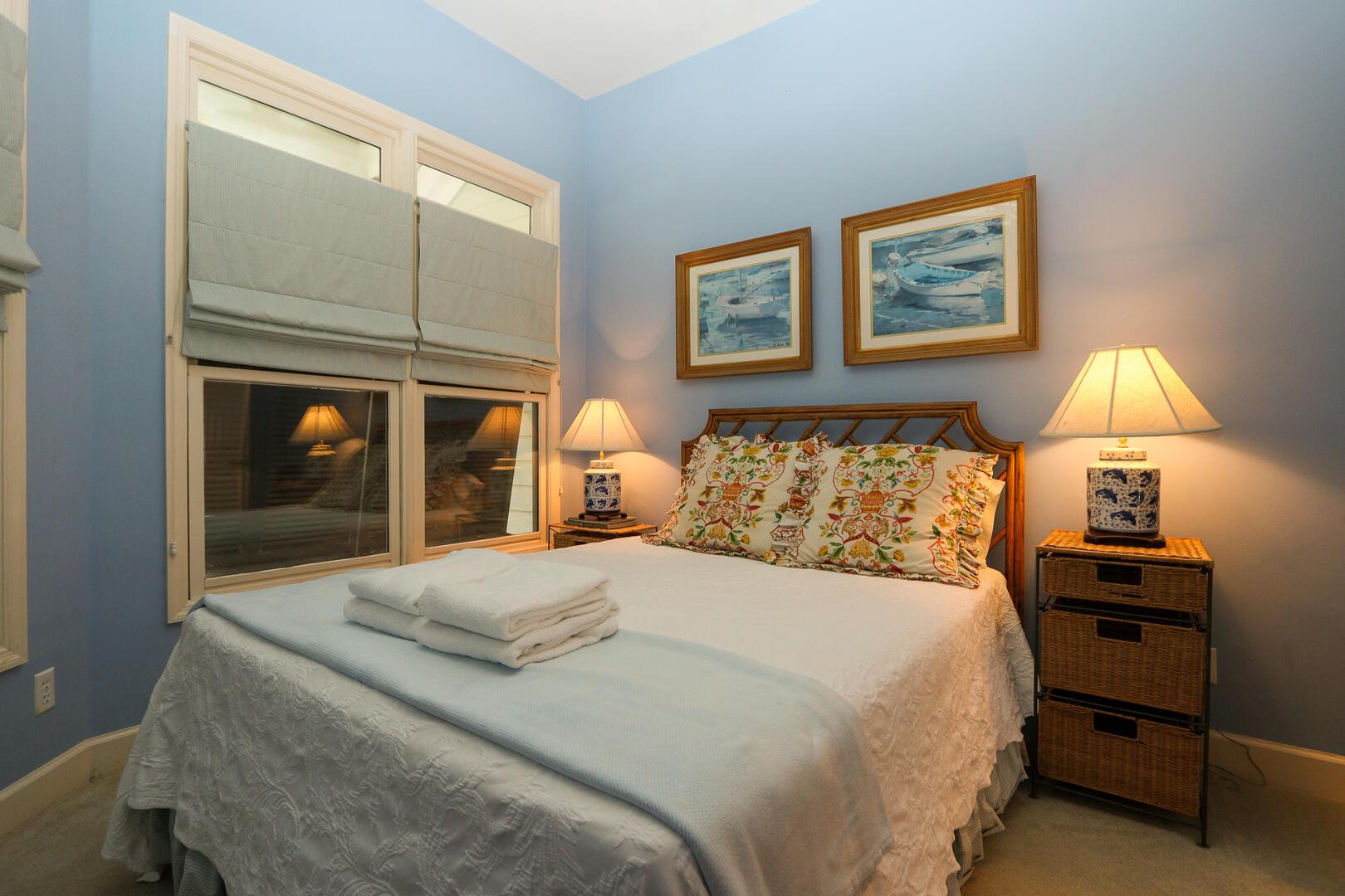 Guest bedroom in main hallway