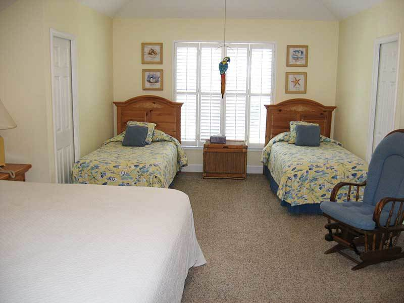 BEDROOM ON 2ND FLOOR WITH KING BED AND TWO TWIN BEDS. HAS EN-SUITE BATHROOM