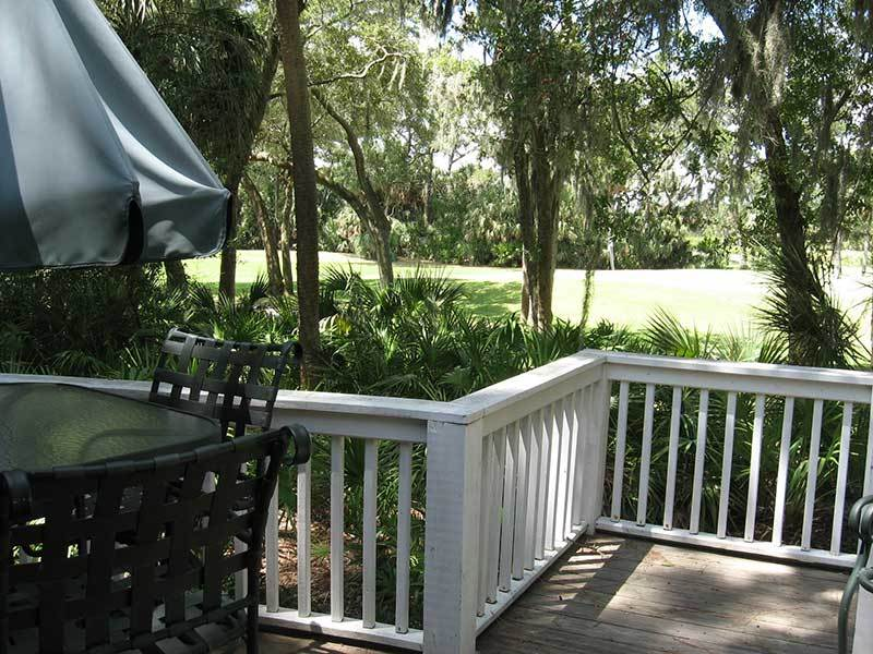 BACK DECK WITH VIEW OF GREENS