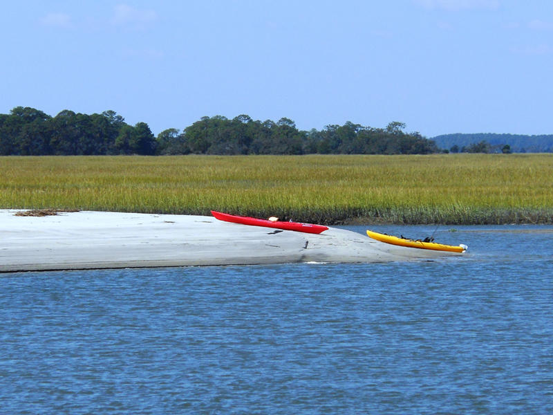 Kayaks can be rented at Island Excursions
