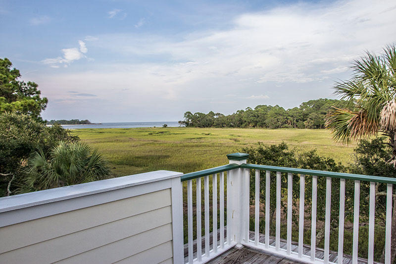 View of the Fripp Inlet from the back deck.