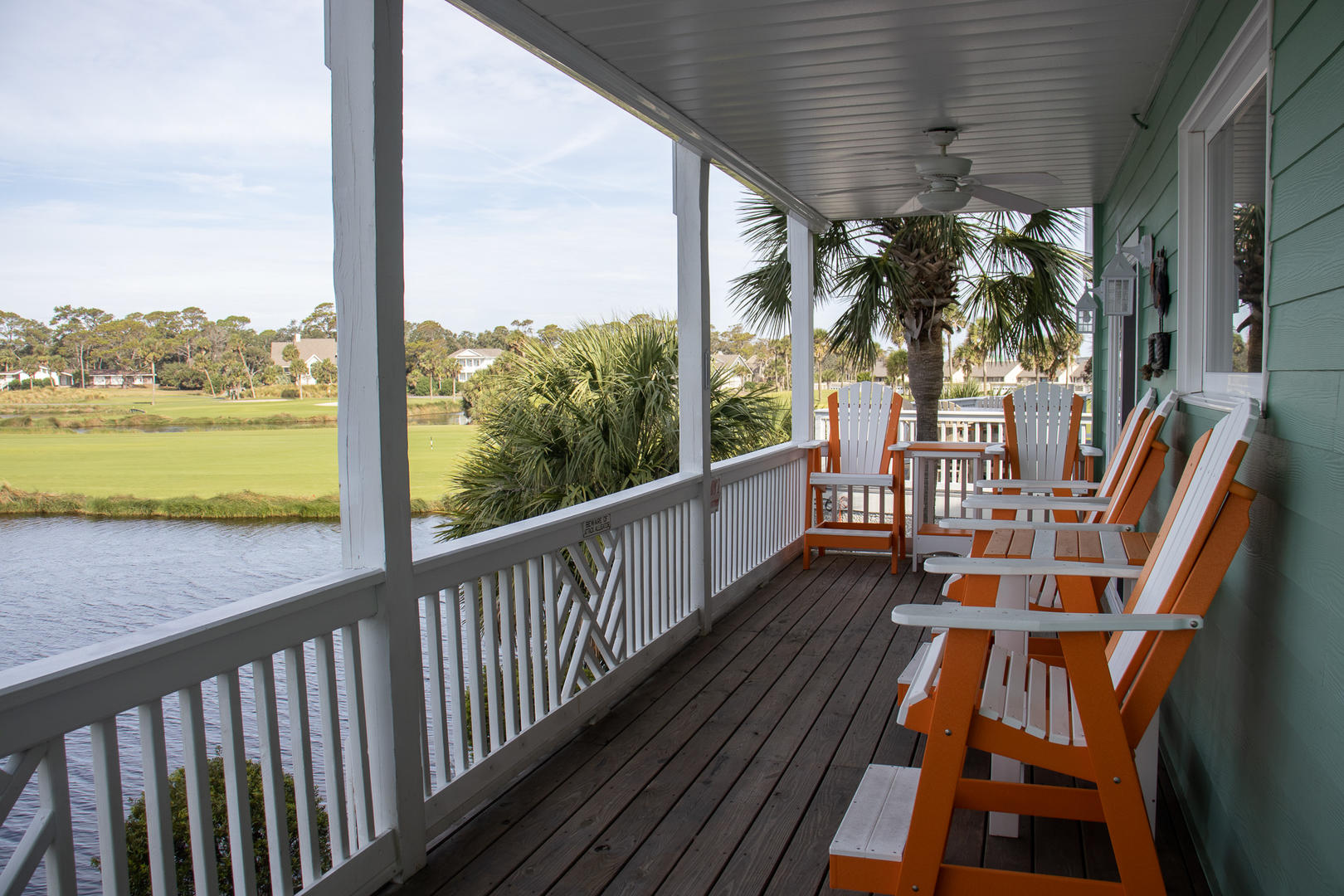 Back deck, access from dining, ground access