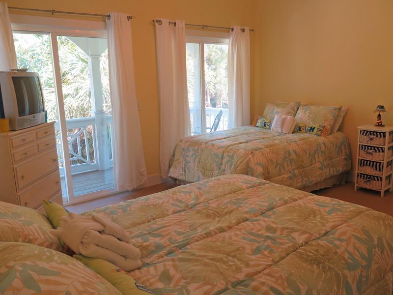 2nd floor bedroom with 2 full beds