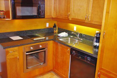 Granite Counter and Flat Top Stove