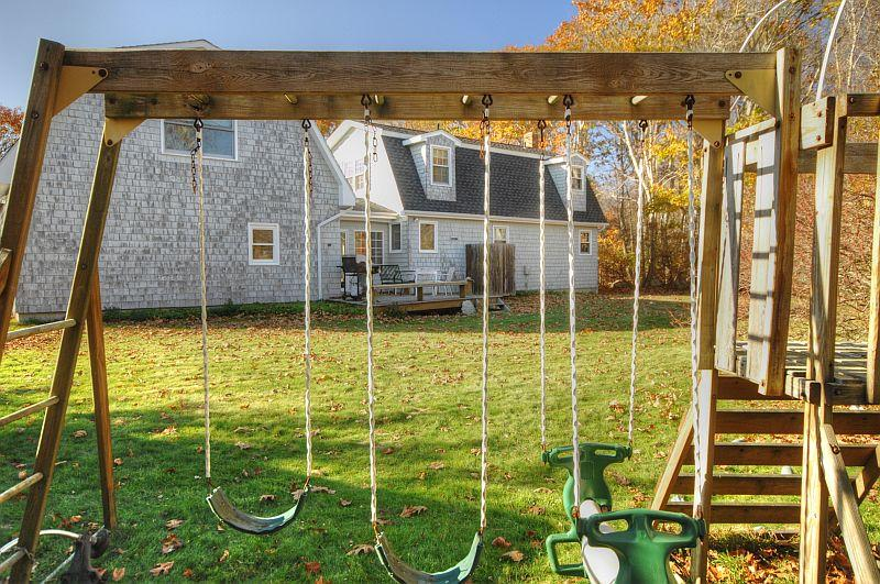 Yard with playset