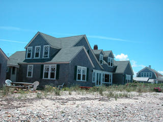 The house viewd from the beach