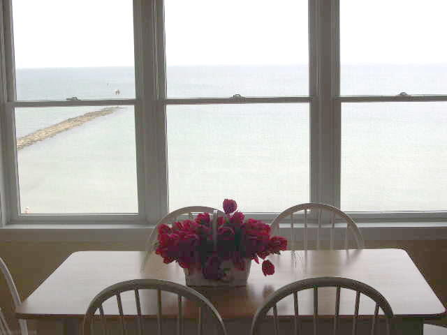 Dining area overlooking Nantucket Sound