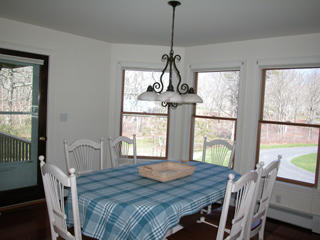 Dining room with door to the porch