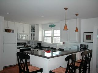 A fully equipped kitchen is the hub of the party