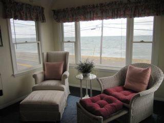 Master bedroom sitting area overlooking Nantucket Sound...oh so beautiful