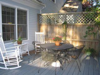deck for enjoying morning afternoon or evening