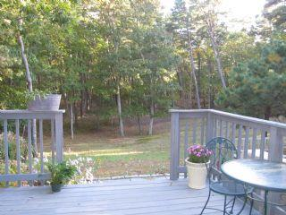 View of the backyard and common area from the deck