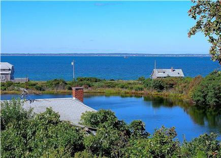 Views from the porch of Crystal lake and Nantucket Sound and sunsets and you are in paradise