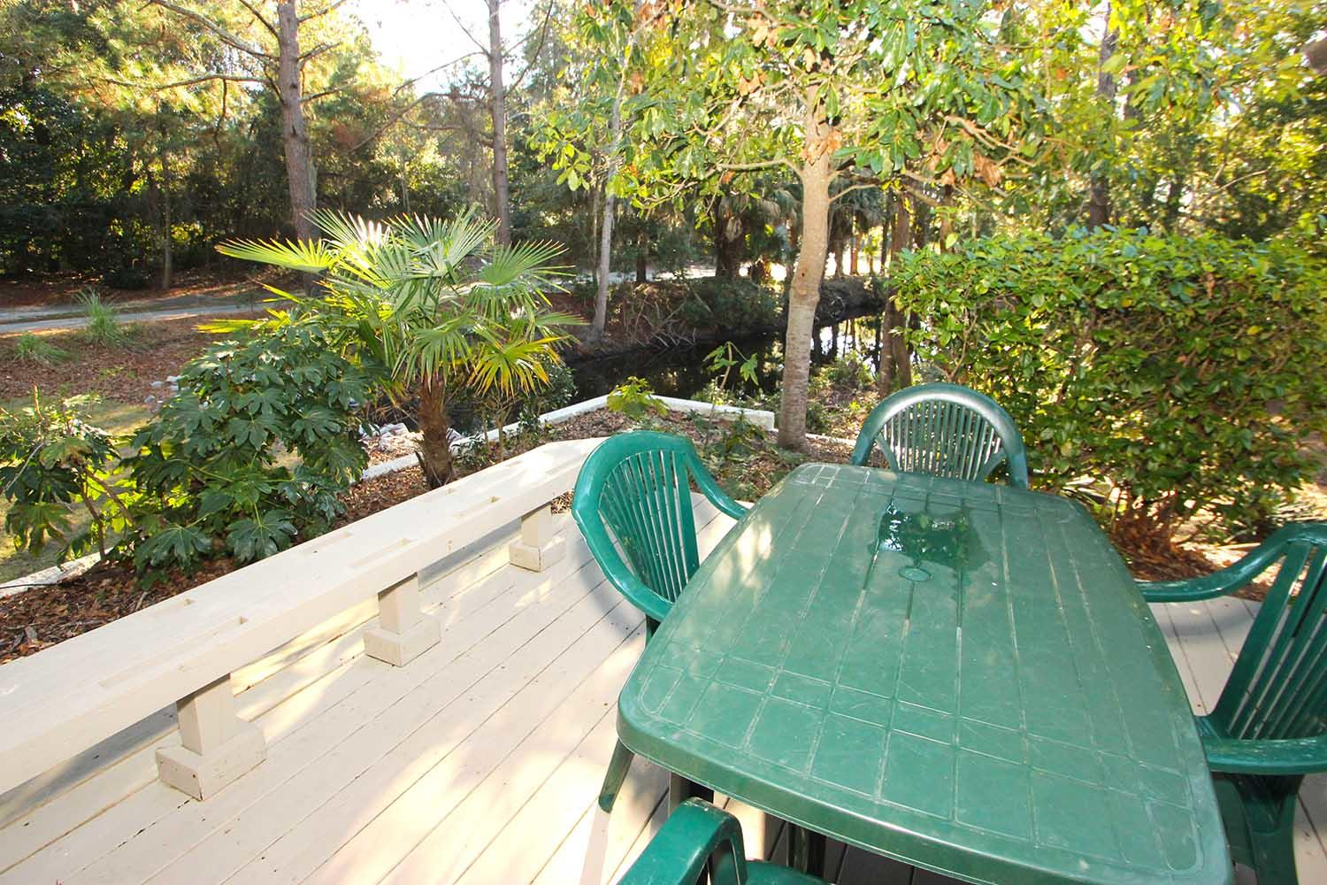Back deck and table
