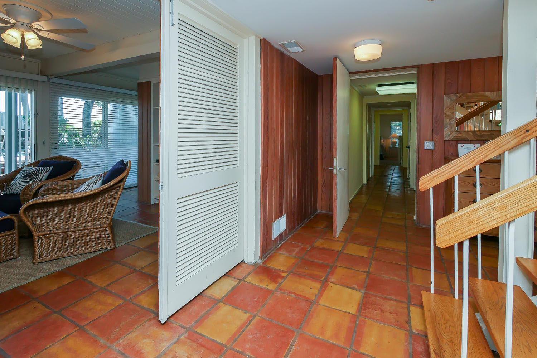 Entrance and ground level hallway