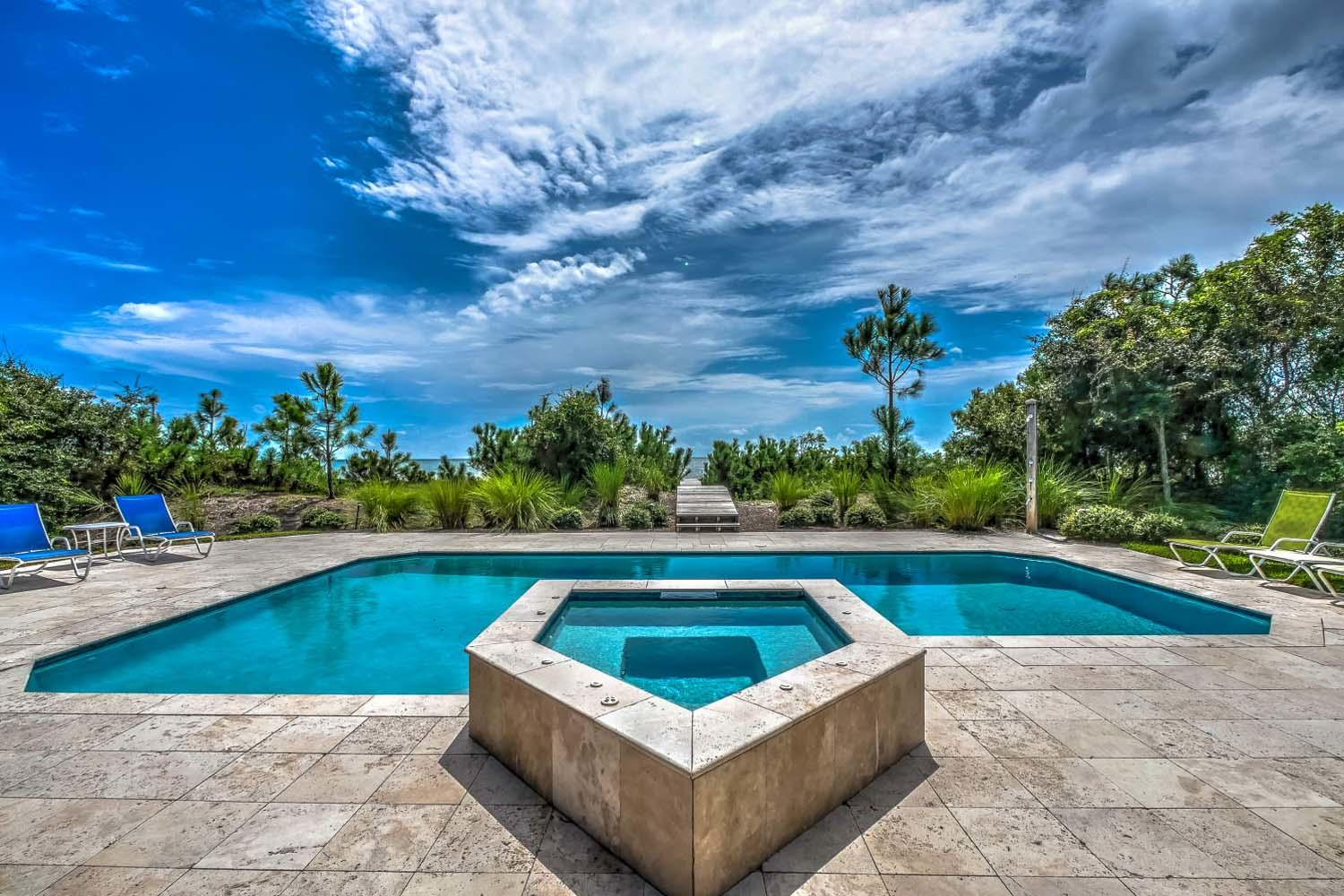 Pool Area Overlooking Ocean