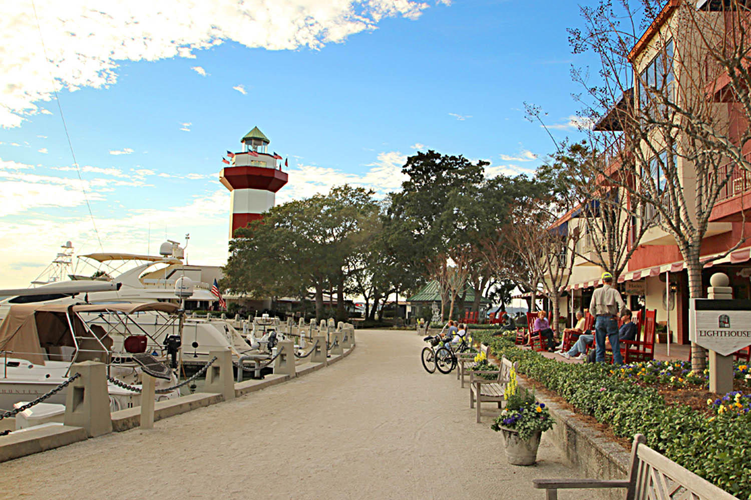 Harbour Town shops and lighthouse