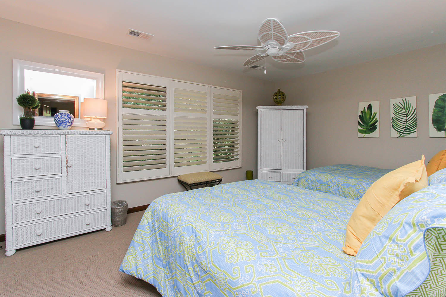 Guest bedroom with two queen beds